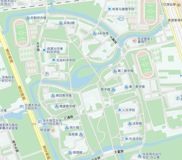 华东师范大学闵行校区地图